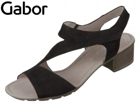 Gabor 44.562-17 schwarz Samtchevreau