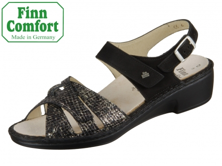 Finn Comfort Buka 02687-902098 dark schwarz Snake Nubuk