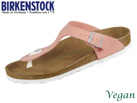 Birkenstock Gizeh 1018154 brushed flamingo Birkoflor Nbuck Brushed
