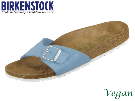 Birkenstock Madrid 1018157 brushed dove Birkoflor Nubuk