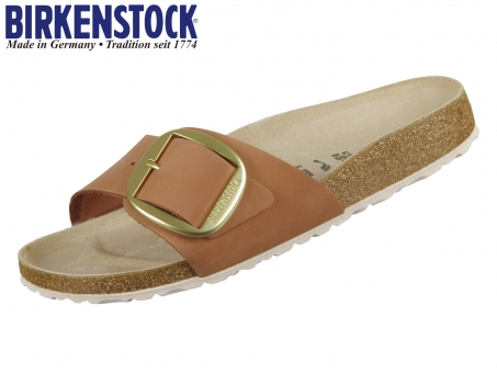 Birkenstock Madrid Big Buckle 1015718 brandy Nubkleder