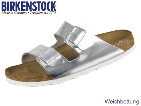 Birkenstock Arizona 1005961 silver Naturleder Metallics