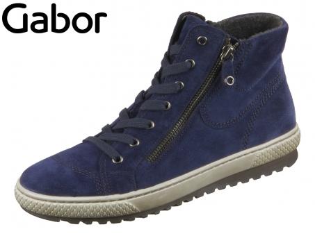 Gabor 53.754-10 marine Kalbvelour