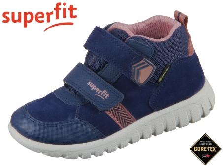 superfit Sport7 Mini 1-009199-8010 blau rosa Velour Textil Tecno