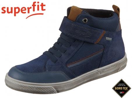 superfit Luke 1-009200-8000 blau braun Velour Textil Tecno