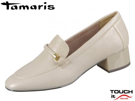 Tamaris 1-24300-35-418 ivory Leder