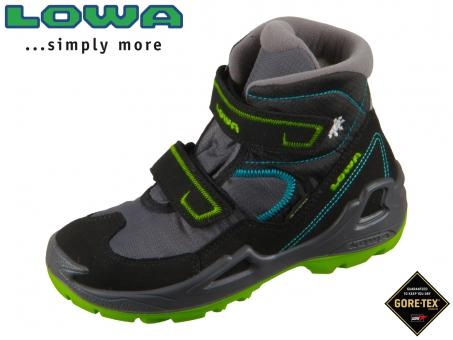 Lowa Milo GTX Mid 640542 9969-650542 9969 schwarz türkis Textil