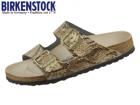 Birkenstock Arizona 1016903 snake beige Naturleder geprägt  Snake