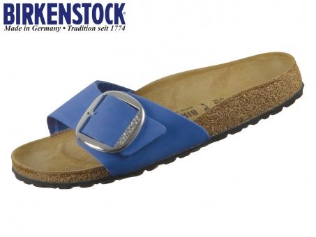 Birkenstock Madrid Big Buckle 1017955 azure blue Nubuck leder