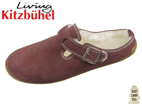 Living Kitzbühel 3663-394 dark elderberry doubleface