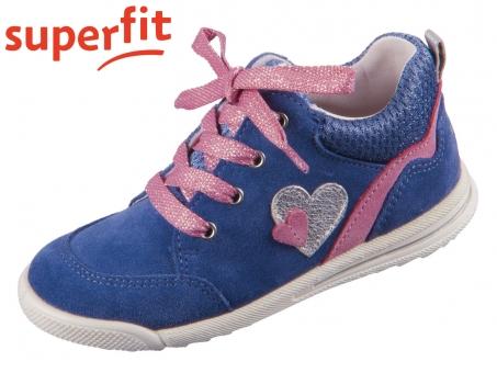 superfit Avrile Mini 1-006376-8000 blau rosa Velour Effektleder Textil