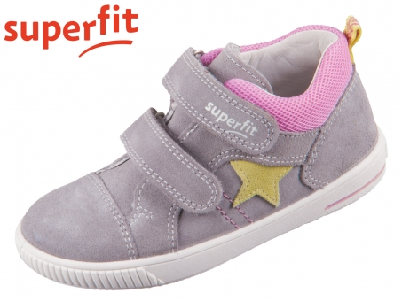 superfit Moppy 0-609352-2600 hellgrau rosa Velour Textil