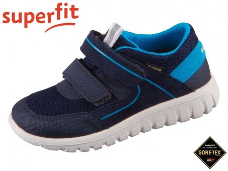 superfit Sport 7 mini 1-006197-8030 blau Velour Tecno Textil