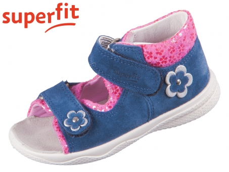 superfit Polly 1-600095-8100 blau rosa Velour Textil