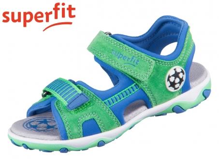 superfit Mike 3.0 1-609465-7000 grün blau Velour Textil 33