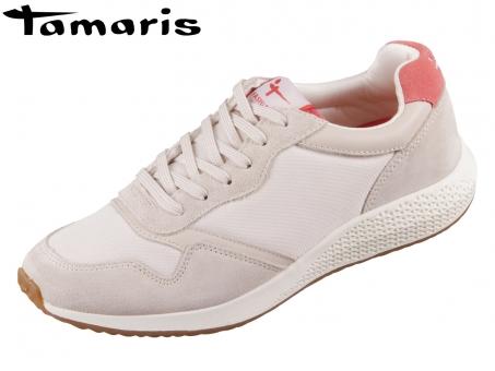Tamaris 1-23765-26-321 sand combi Leder Textil