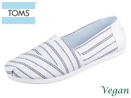 TOMS Alpargata 10016221 white multi Textured Stripe