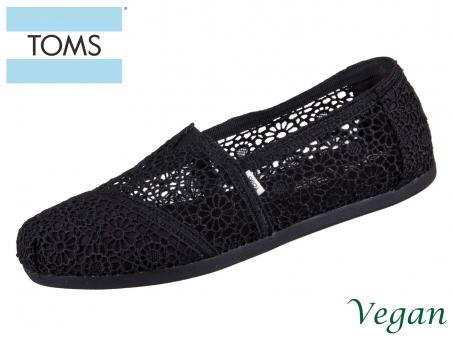 TOMS Alpargata 10016254 black moroccan crochet