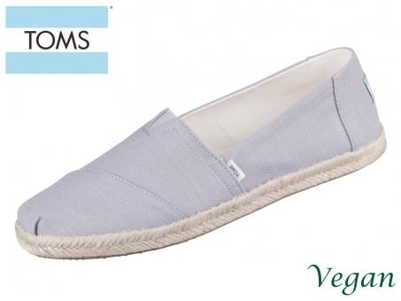TOMS Alpargata Rope 10016260 grey grey slubby woven