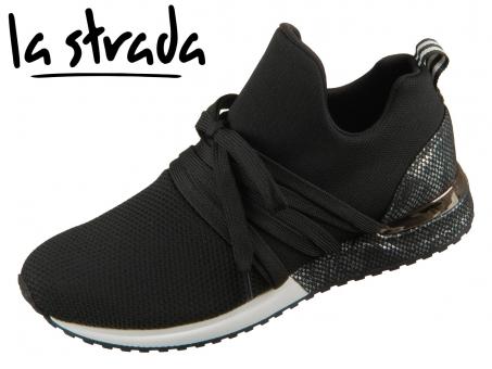 la strada Knitted Sneaker 1804297-4501 knitted black Lycra