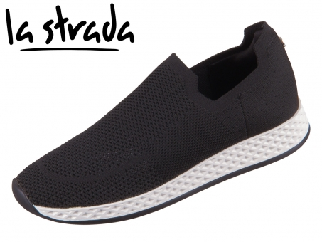 la strada KnittedSneaker 2000969-4501 black knitted