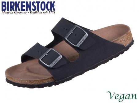 Birkenstock Arizona 1019057 black Earthy Vegan Birkibuck Birkoflor