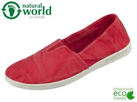 natural world 615E-652 rojo Baumwolle organic cotton