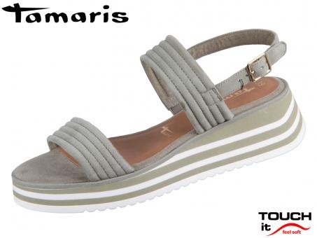 Tamaris 1-28029-36-763 pistacchio Leder