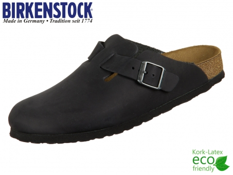 Birkenstock Boston 059463 black Nubuk Oiled