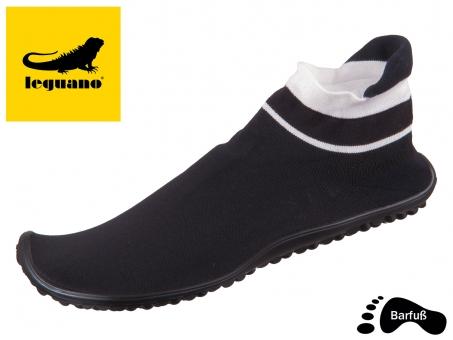 Leguano sneaker schwarz weißer bund 10002070 sneaker schwarz weiß schwarz-weiß