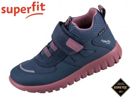 superfit Sport 7 1-006196-8010 blau rosa Tecno Textil
