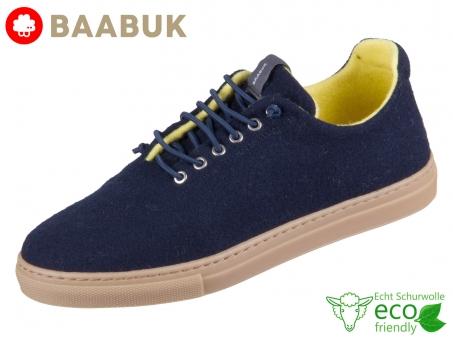BAABUK Urban Wooler Navy Lemon UW02-NA-LE Navy Lemon Portuguese Wool