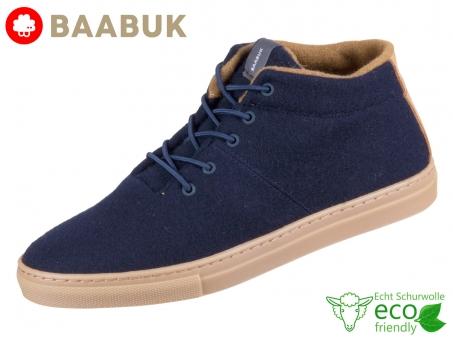 BAABUK Sky Wooler Navy Brown SN02-BL-BR Navy Brown Portuguese Wool