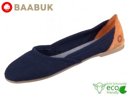 BAABUK Wool Flats Blue FLA01-BL Blue Portuguese Wool