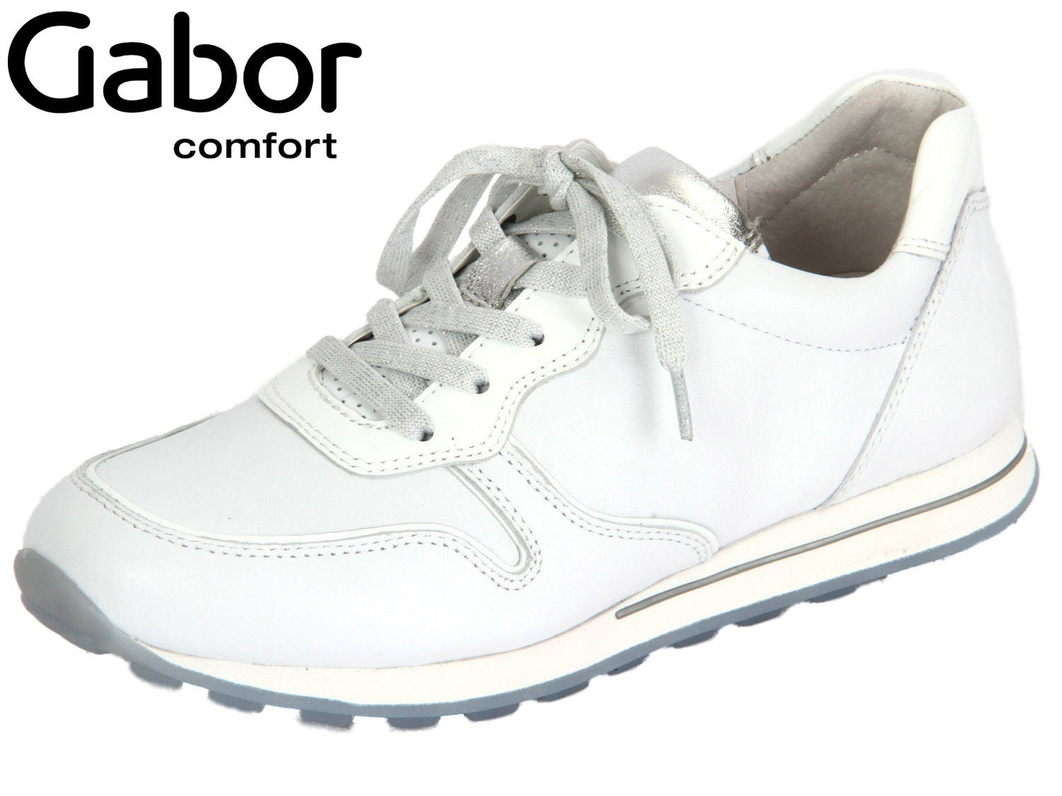 online store 4f3c0 63b16 Gabor York 46.365-50 weiss silber Nappa Lack
