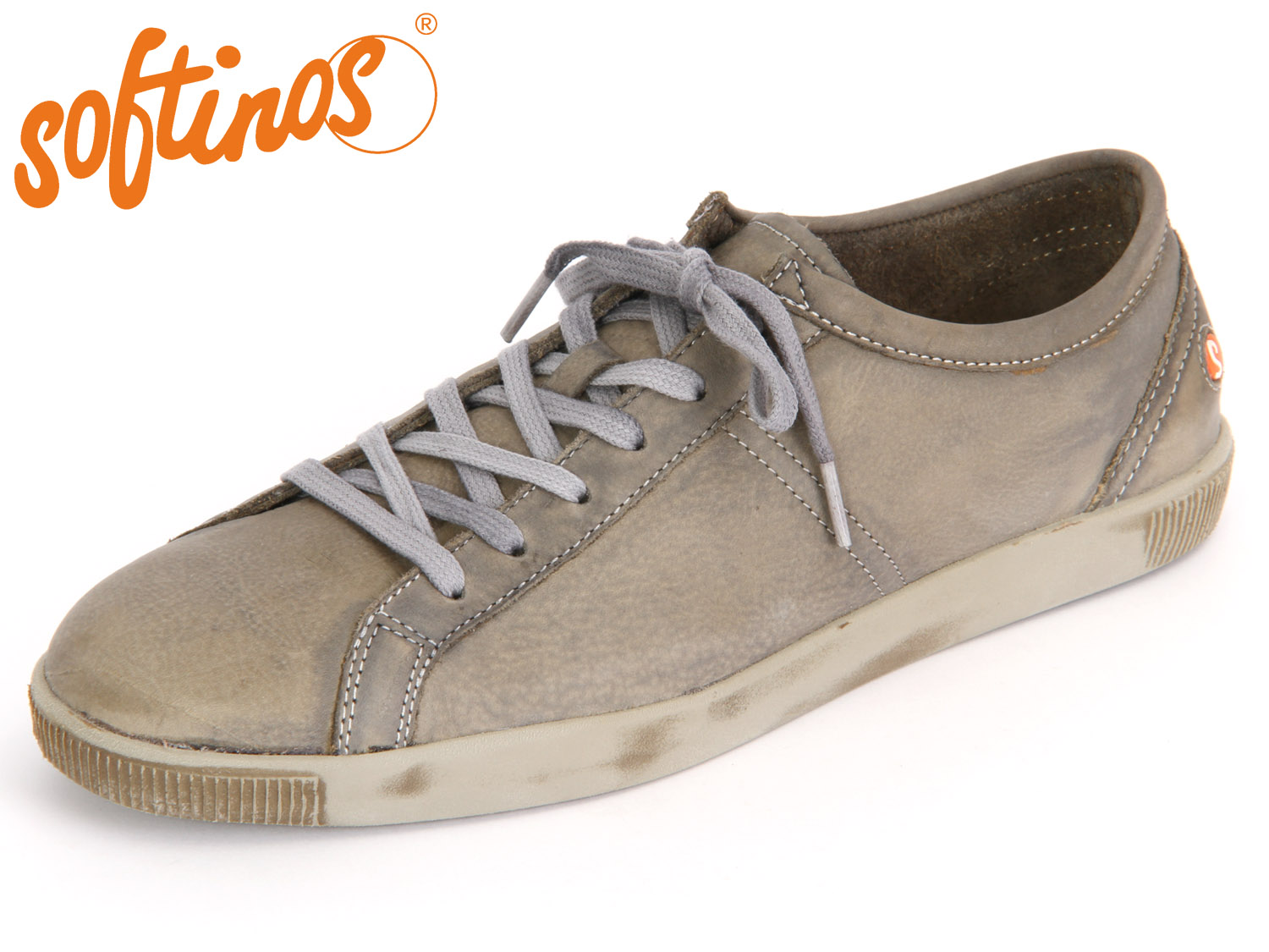 Softinos Tom washed leather, Farbe:taupe;Größe:43
