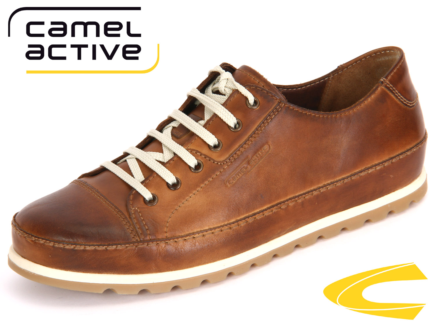 online store c48e5 e69ef camel active Point 452.11.07 brandy Diped Leather