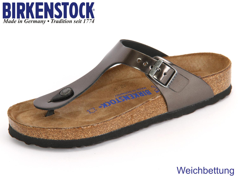 wholesale dealer f95b0 b2cd5 Birkenstock Gizeh WB 1003676 metallic anthracite Leder