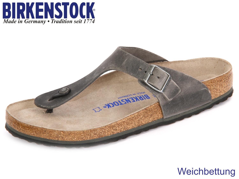 official photos 919f7 4736e Birkenstock Gizeh WB 1005215 artic old iron Leder Oil