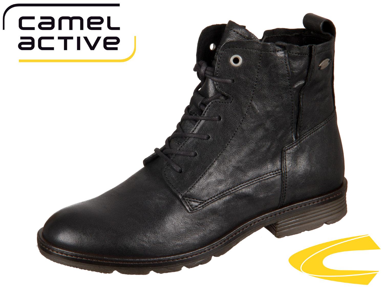 camel active Aged 871.70-01 black Wrinkled Sheep eMF6U