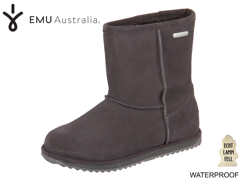 EMU Australia Brumby Lo Teen K10773 ch charcoal Waterproof Suede