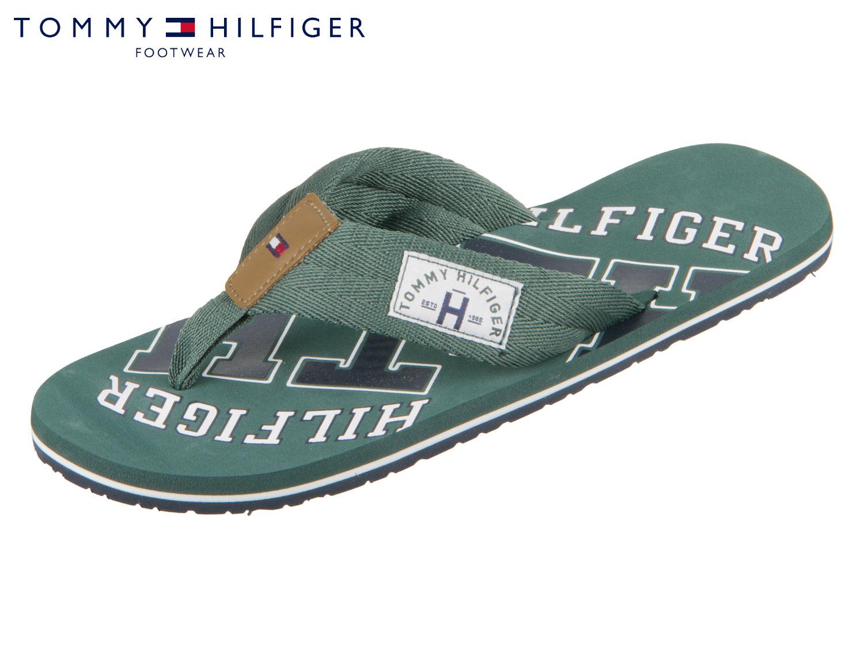 Zehentrenner TOMMY HILFIGER - Essential Th Beach Sandal FM0FM01369 Jungle Green 300 uQuTywXi