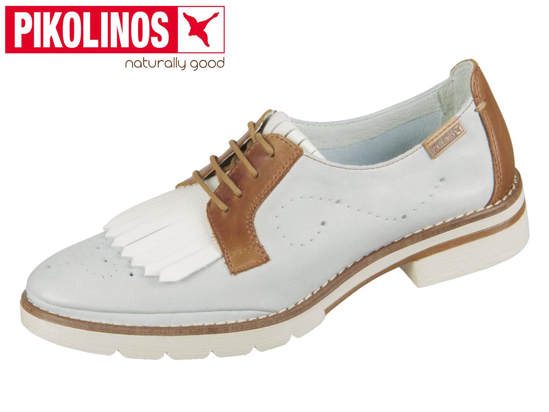 Pikolinos Sitges Schuhe blau weiß W7J-4669 Fhke9y