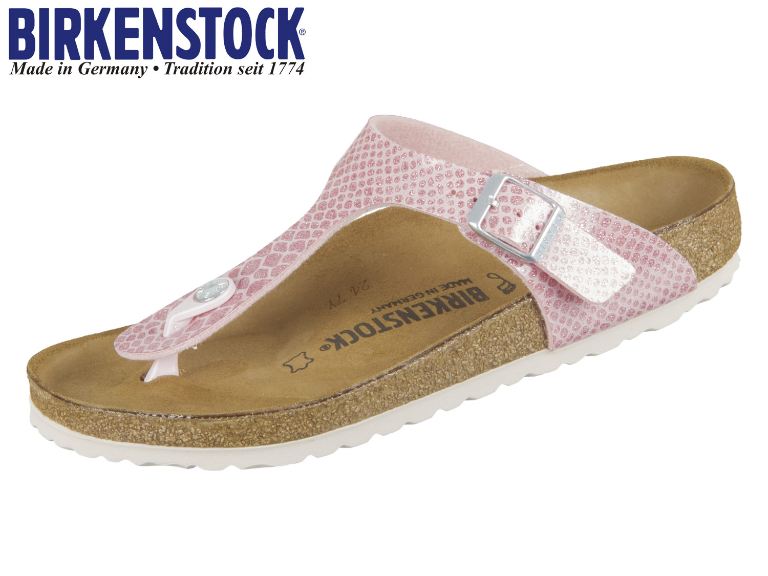 Rosane Birkenstock Pantolette GIZEH MAGIC SNAKE
