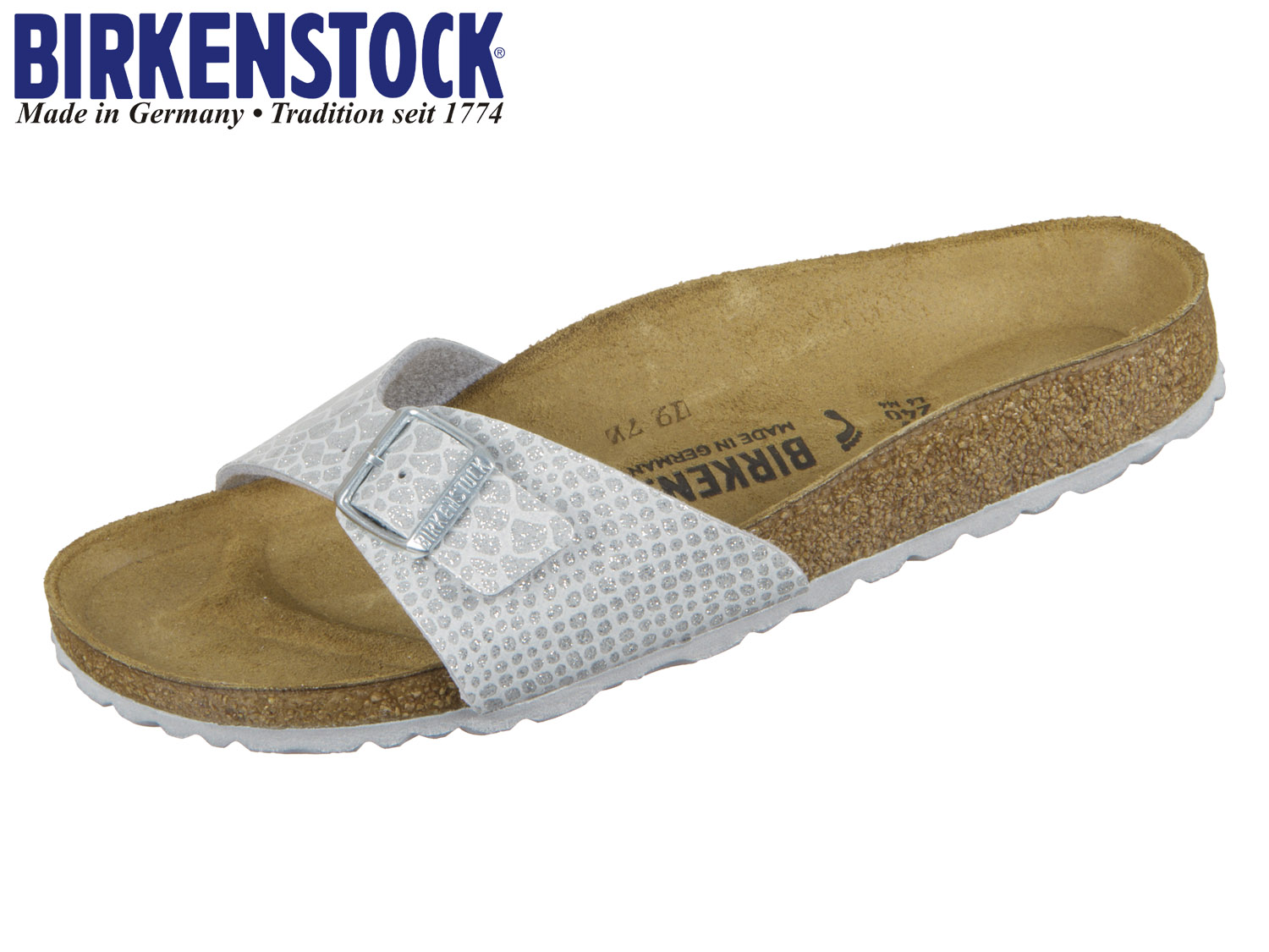 c416bf8b47c0ff Birkenstock Madrid 1009100 magic snake silver Birkoflor