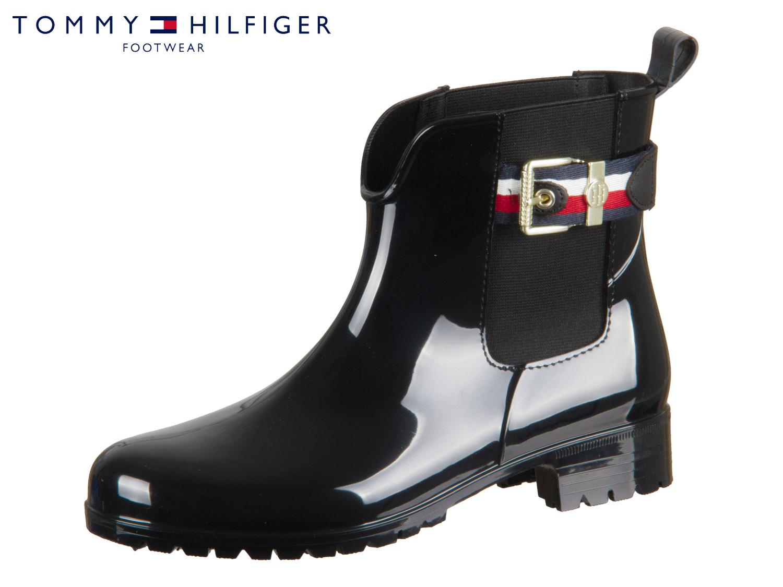 402ef778b88ce7 Tommy Hilfiger Corporate Belt Rain Boot FW0FW03329-990 black ...