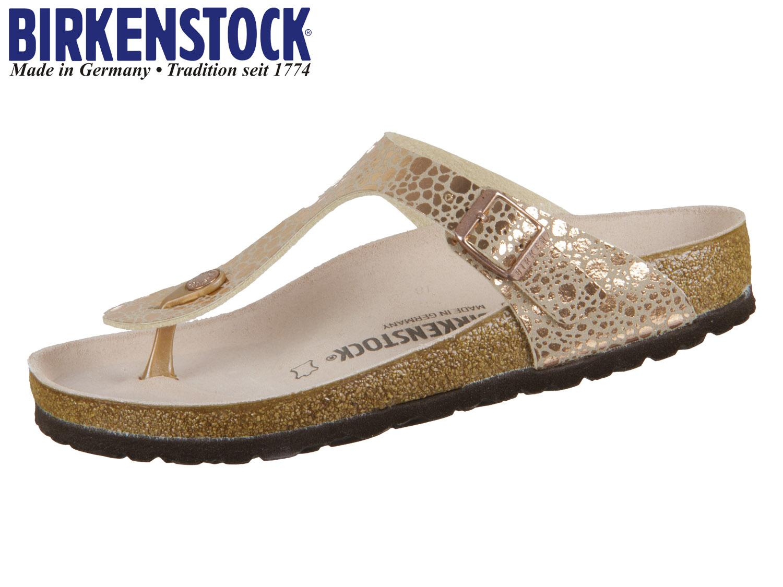 e23b74f9ef6c11 Birkenstock Gizeh 1005674 metallic stones copper Birkflor ...