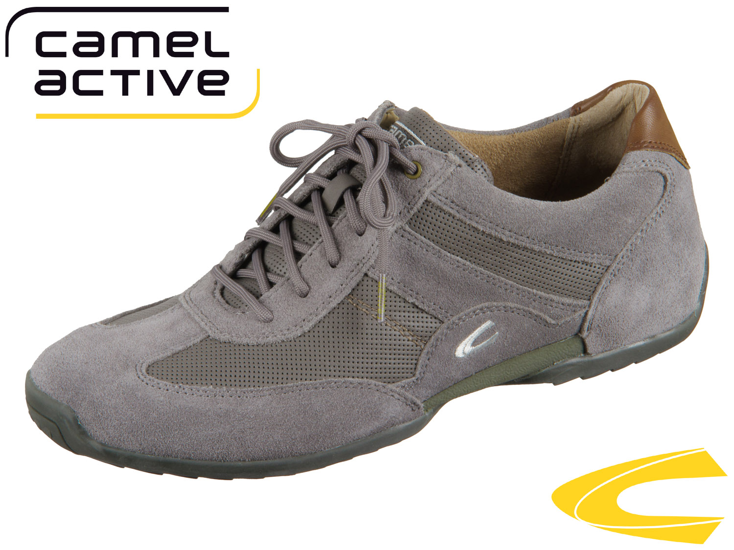 1027f7972223 camel active Space 137.37-02 dk grey Oil Suede Synth Nappa