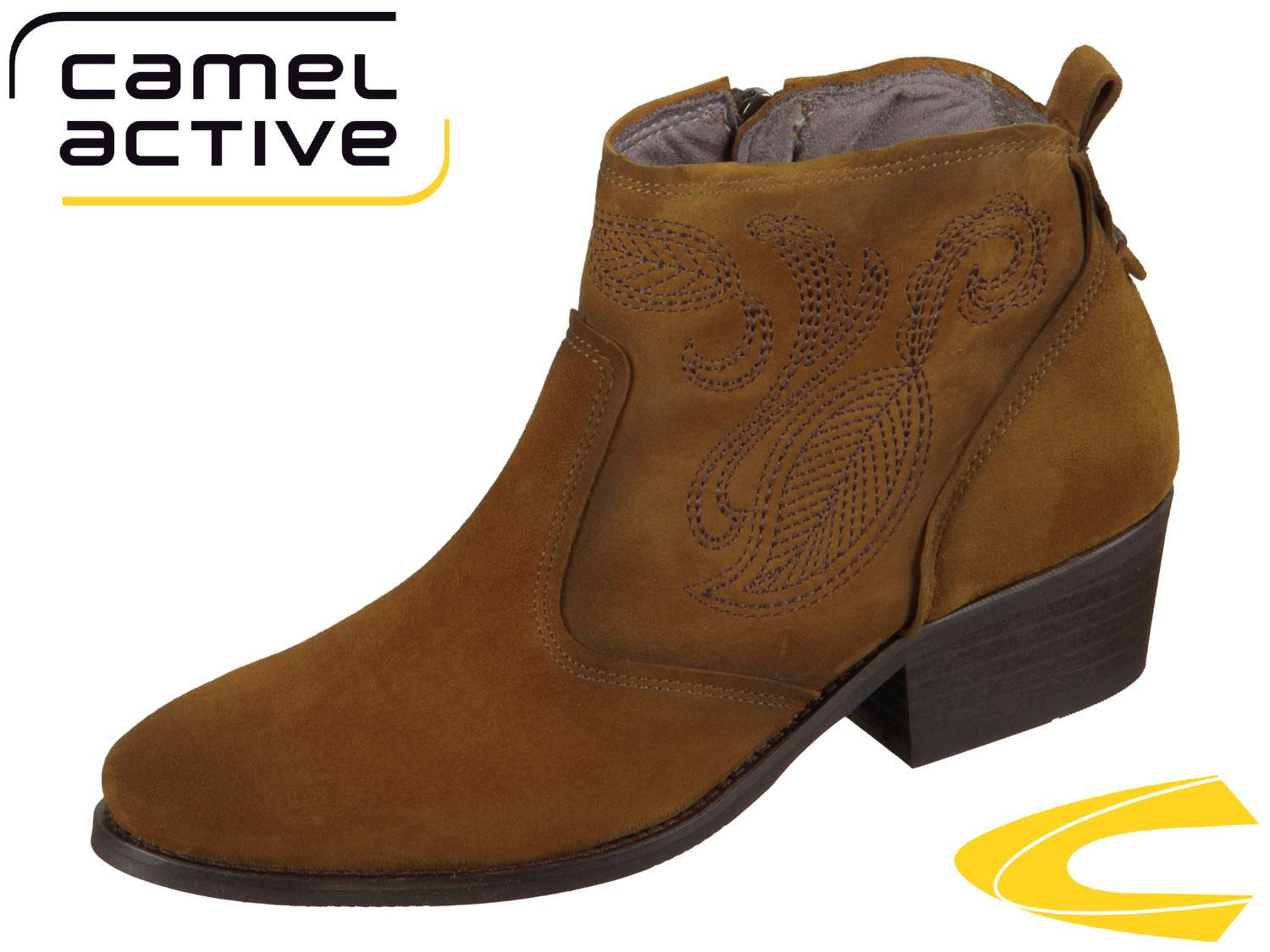 new arrivals aed01 3fc35 camel active Westend 903.70-02 fox Goat Suede