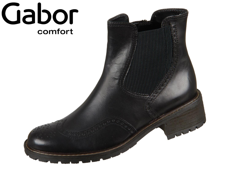 Gabor Comfort Stiefel in schwarz anthrazit